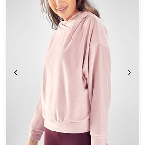 FABLETICS Brisa Velour pull over pink hoodie M